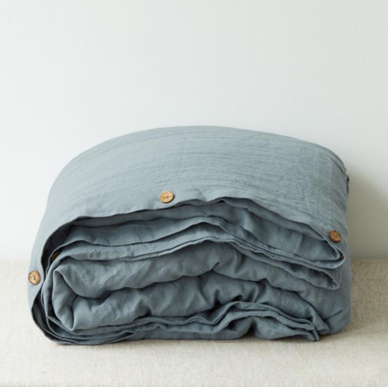 Blue Fog Washed Dekbedovertrek  1 persoons inclusief kussensloop