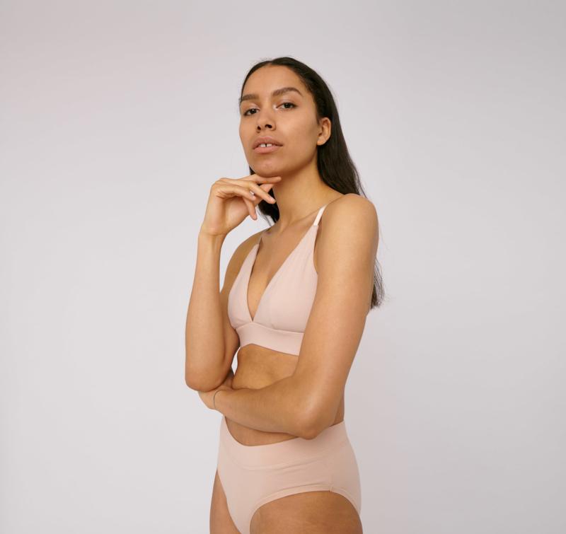 Organic Basics Triangle Bra Nude