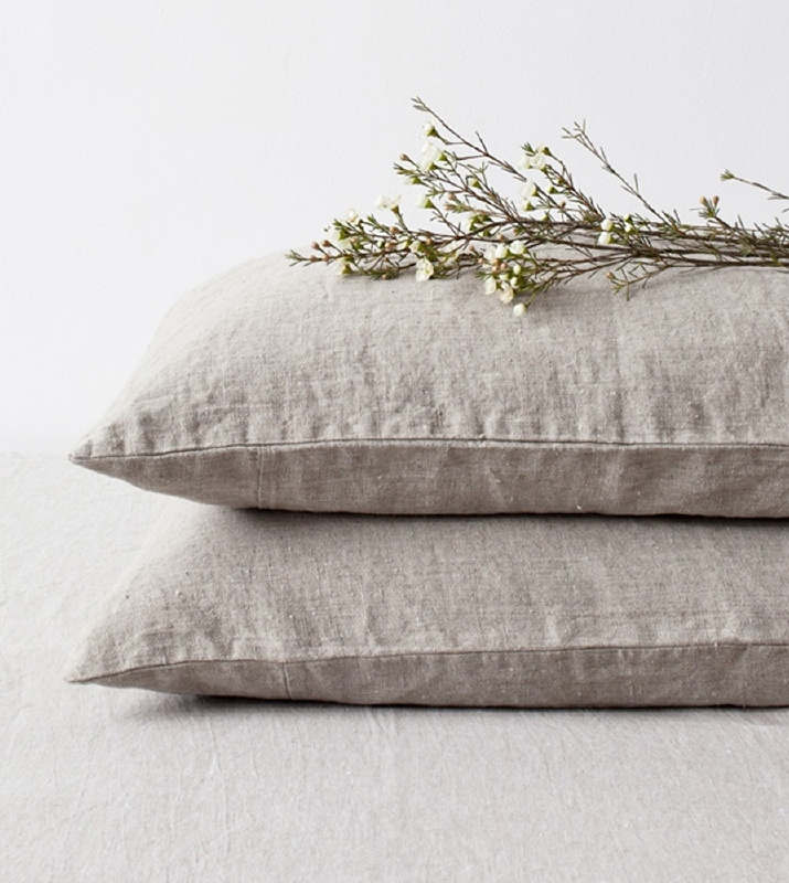 Natural Stone Washed Linen Kussensloop