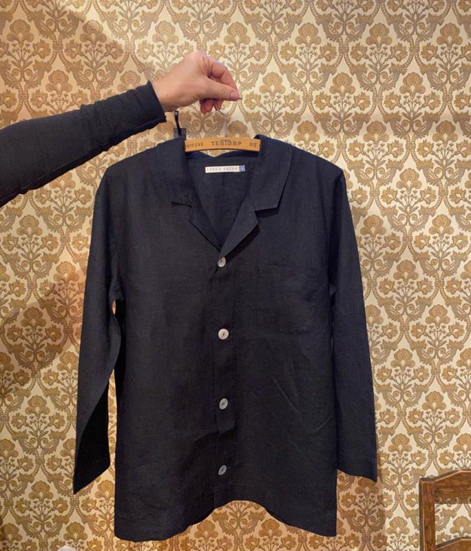 Pyjama Linen Tales Job Zwart