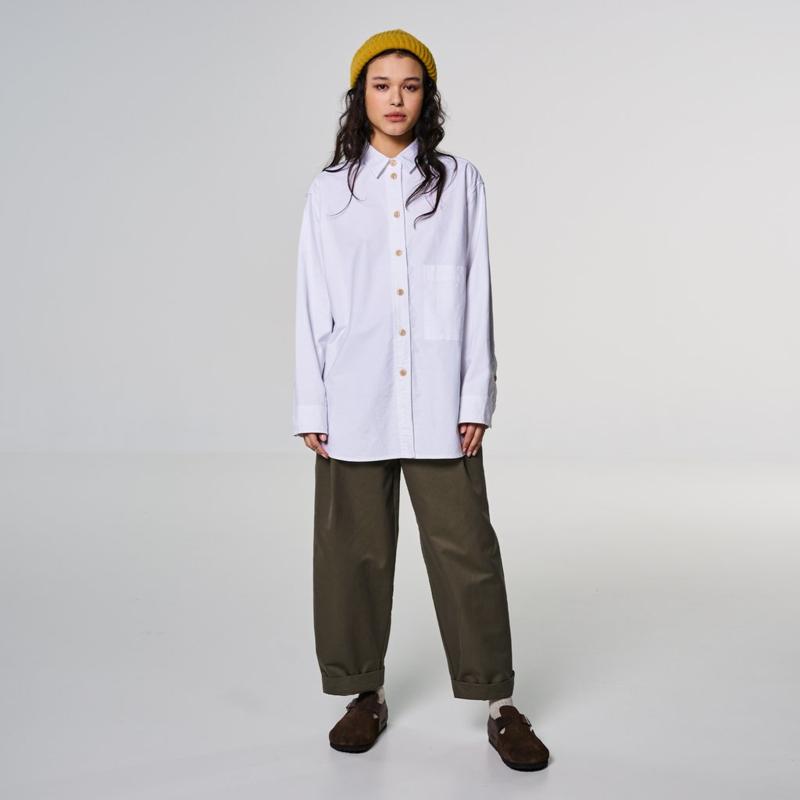 Girls of Dust Maxi Shirt Oxford White