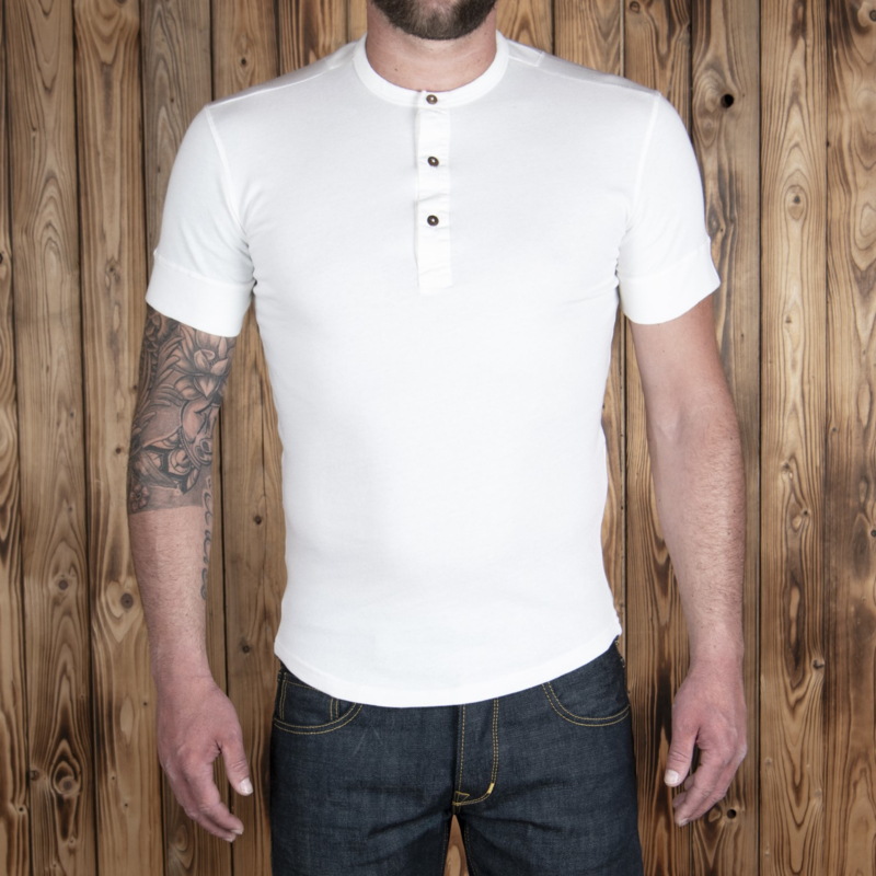 Pike Brothers 1927 Henley Shirt Short Sleeve Ecru