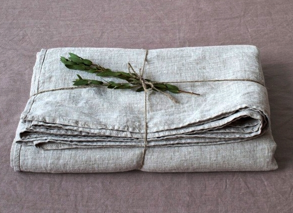 Naturel Stone Washed Linen Laken