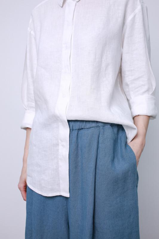 Linnen Shirt Wit