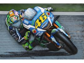 MotoGP nr 46 ROSSI,  schilderij van metaal