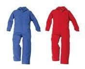 Kinderoverall rood of blauw maat
