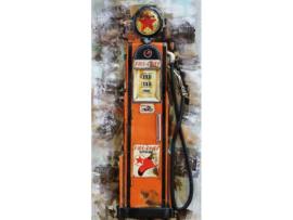 Pomp Gasolie, schilderij van metaal