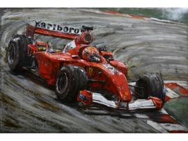 Marlboro Formule 1 , schilderij van metaal