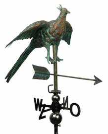 Windwijzer of tuinbeeld Fazant KOPER & RVS