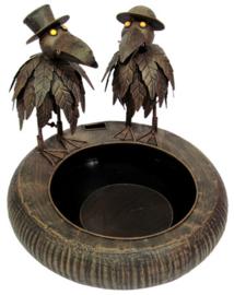 Fontein metaal met vogels