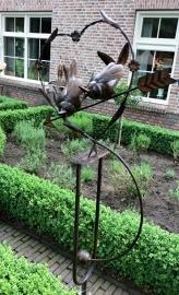 Tuinsteker hart met vogeltjes