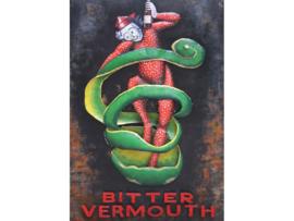 Bitter Vermouth,  schilderij van metaal