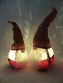 Baardman of kerstman met led 40cm