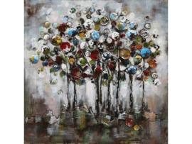Moderne boom ,schilderij van metaal