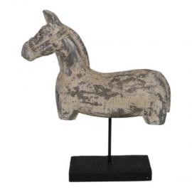 Houten paard op voet