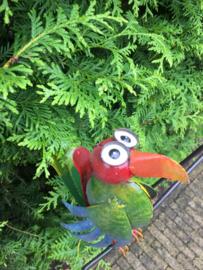 Tuinsteker windspel gekleurde vogel