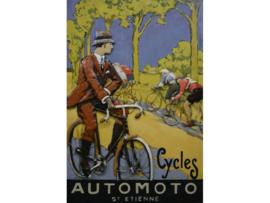Cycles,  schilderij van metaal