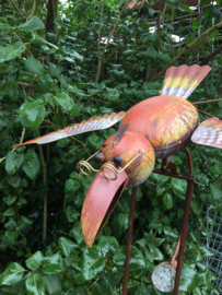Tuinsteker windspel met grote vogel