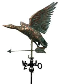 Windwijzer of tuinbeeld EEND KOPER & RVS