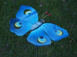 Vlinder op tuinsteker