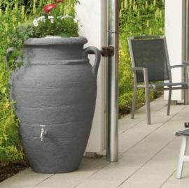 Regenton kunstof, replica terracotta vaas