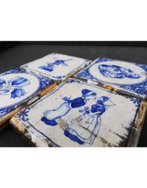 Houten onderzetter set 4 stuks 'Dutch Design'