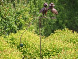Tuinsteker balans vogelpaar