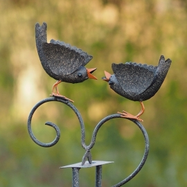 Tuinsteker windspel met 2 vogels 'merel'