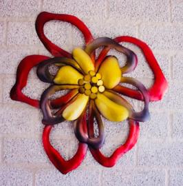 Gekleurde bloem voor aan de wand