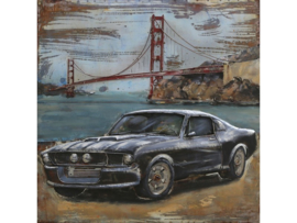 Mustang, schilderij van metaal
