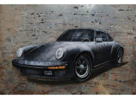 Porsche 911 , schilderij van metaal