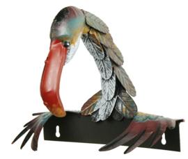 Schutting decoratie  vogel lange nek