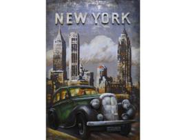 New York , schilderij van metaal