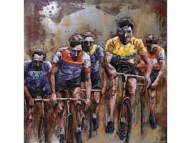 Tour de France ,schilderij van metaal