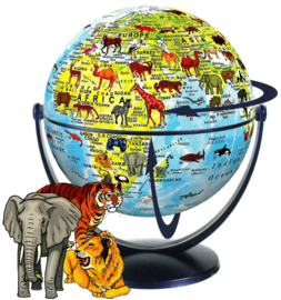 Wereldbol 15cm  (met dieren)
