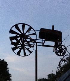 Tuinsteker balans tractor roest