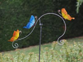 Tuinsteker gekleurde vlinders