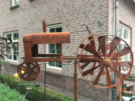 Tuinsteker balans tractor roest