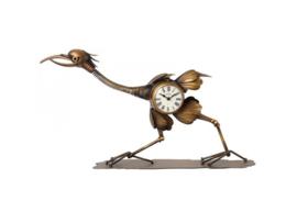 Vogel klok brons