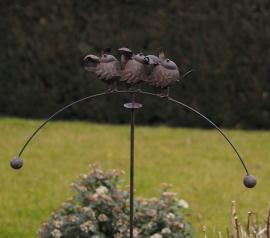 Tuinsteker balans met 3 vogeltjes