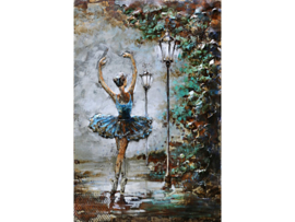 Ballerina, schilderij van metaal