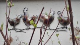 Wanddecoratie kippen & haan