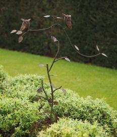 Tuinsteker balans takken met 2 uilen