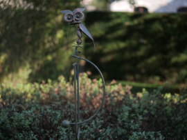 Tuinsteker balans silhouet uil