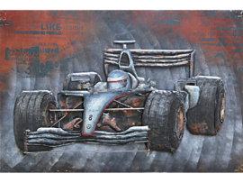 GP race , schilderij van metaal