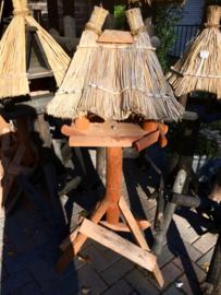 Vogelhuis/voederhuis rieten dak type Paradijsvogel