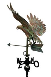 Windwijzer of tuinbeeld Adelaar KOPER & RVS