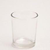 geurkaarsjeshouder van helder glas