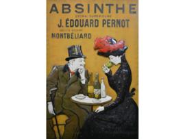 Absinthe,  schilderij van metaal
