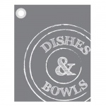 Theedoek 'bowls & dishes'